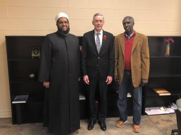 2018-11-02 Rev. Canon Neale Bennet visit to the Ummah Mosque