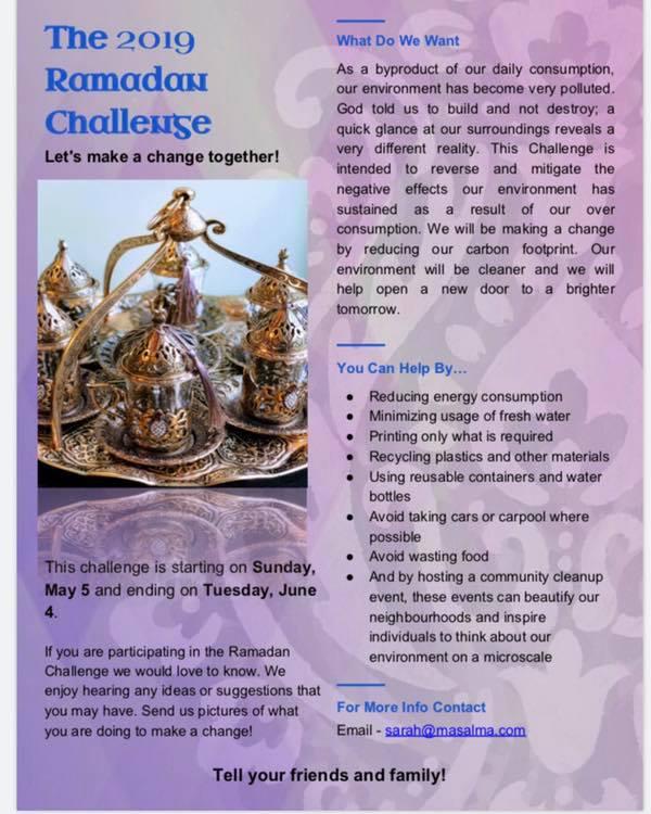 2019 04 19 Ramadan Challenge