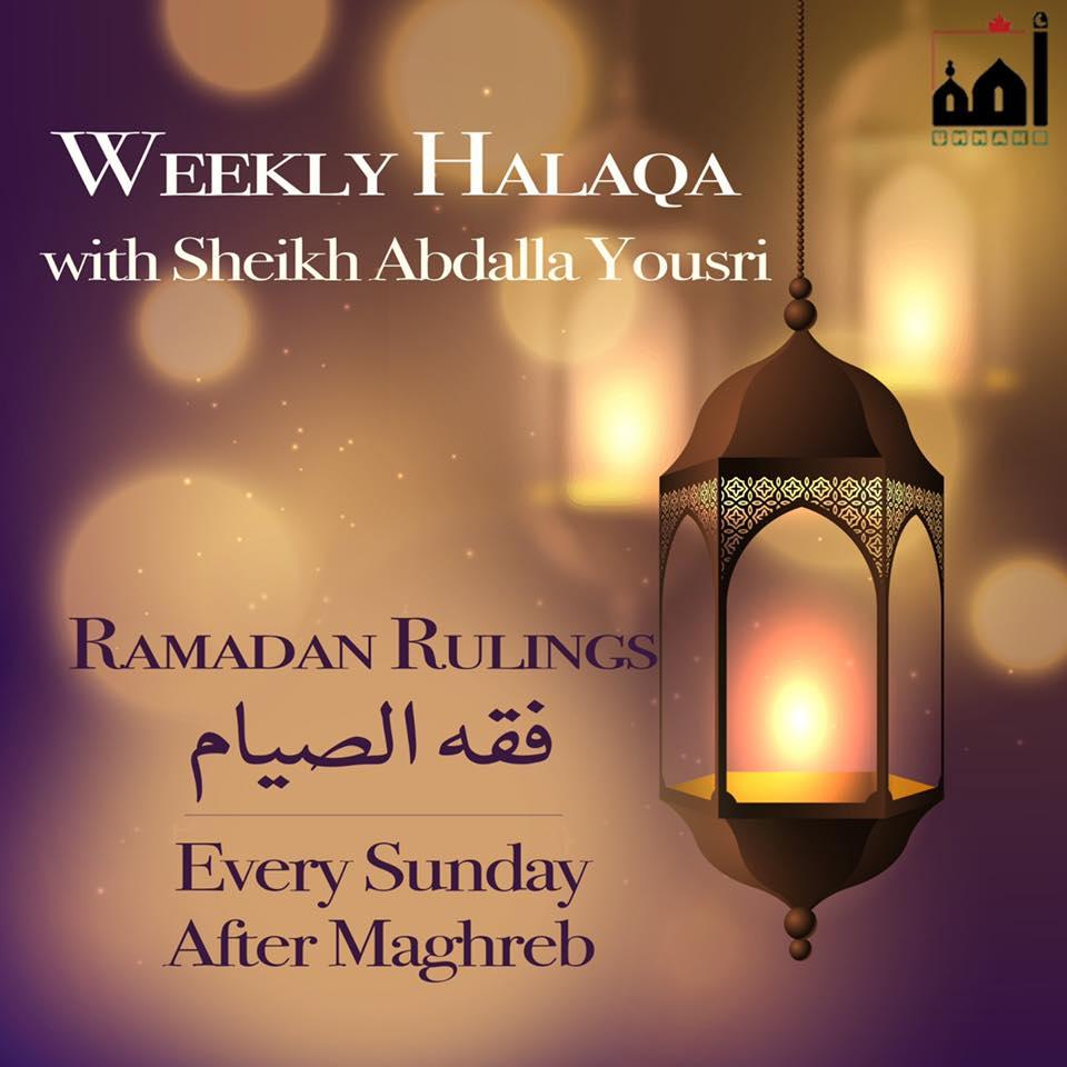 2019 04 28 Rulings of Ramadan