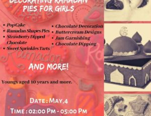 2019-04-30 Hand-baking and Decorating Ramadan Pies Workshop for Girls