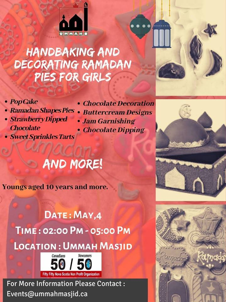 2019 04 30 Hand baking and Decorating Ramadan Pies Workshop for Girls