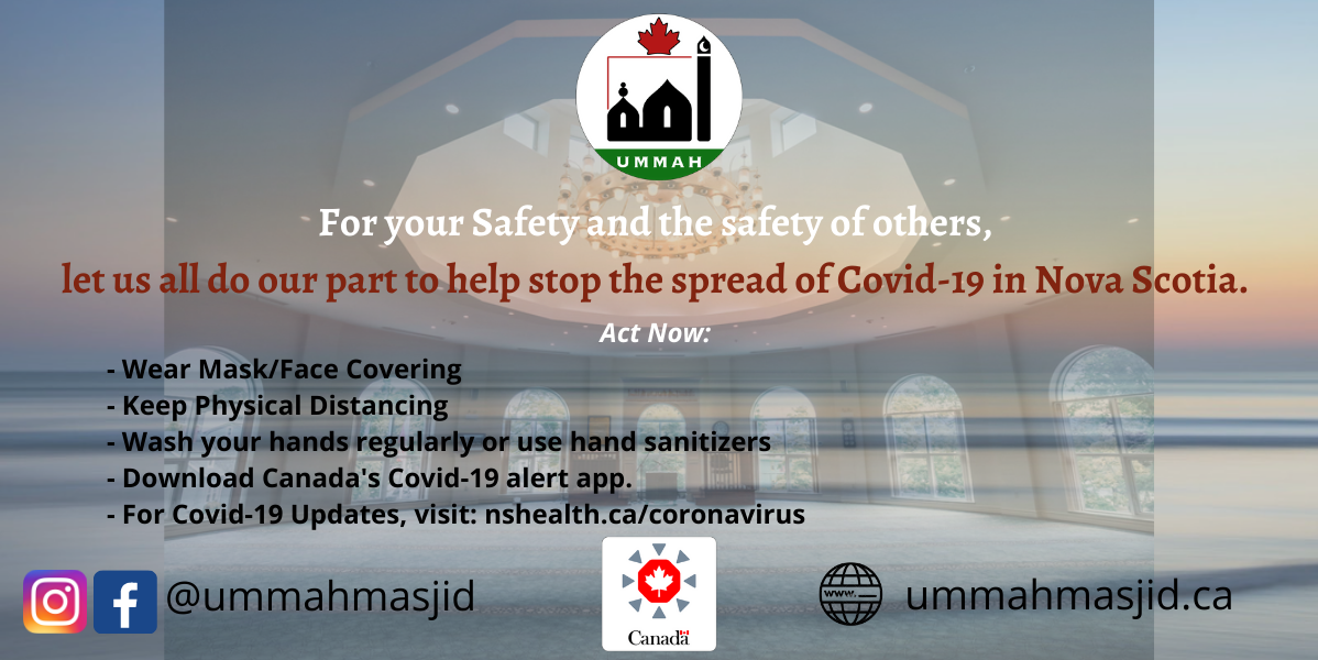 For your Safety and the safety of others let us all do our part to help stop the spread of Covid 19 in Nova Scotia.